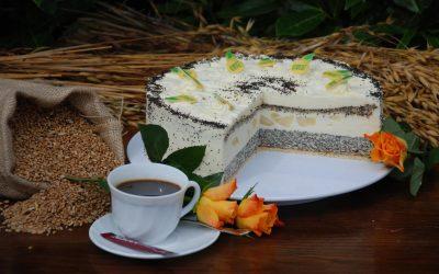 Birne-Mohn-Joghurt-Torte